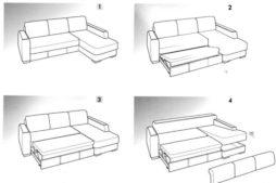 Конструкция типового углового дивана