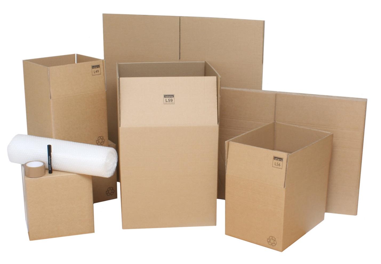 Коробки, лента и скотч для упаковывания