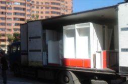 Погрузка и перевозка торговой мебели