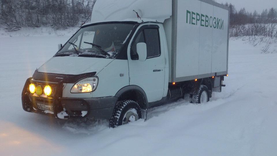Грузовая машина – перевозка в зимний период